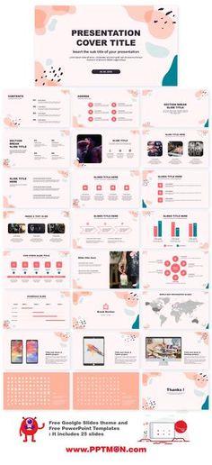 Pastel Memphis Free Google slides theme PowerPoint templates