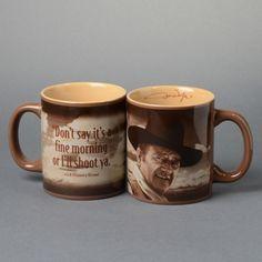 Fine Morning Mug featuring John Wayne
