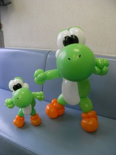 Balloon Show, Balloon Face, Balloon Toys, Super Mario Bros, Super Mario Birthday, Yoshi, Ballon Animals, 6th Birthday Parties, 7th Birthday
