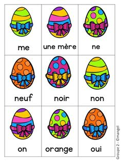 Sight Word Games in French with an Easter theme (Paques/Pâques) Sight Word Games, Sight Words, Teaching French Immersion, Grade 1 Reading, English Games, 100 Words, French Lessons, Grade 2, French Language