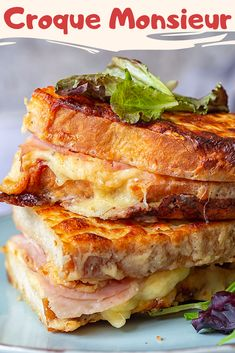 Irresistible Croque Monsieur Sandwich - In the Kitchen - Eat or Not Foods Panini Sandwiches, Grilled Sandwich, Soup And Sandwich, Wrap Sandwiches, Gourmet Sandwiches, Sandwiches For Lunch, Sandwich Croque Monsieur, Panini Recipes, Hot Sandwich Recipes