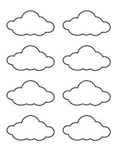 Use the printable outline for crafts, creating stencils, sc Small cloud pattern. Use the printable outline for crafts, creating stencils, sc… Felt Crafts, Diy And Crafts, Crafts For Kids, Paper Crafts, Templates Printable Free, Free Printables, Cloud Template, Decoration Creche, Cloud Decoration