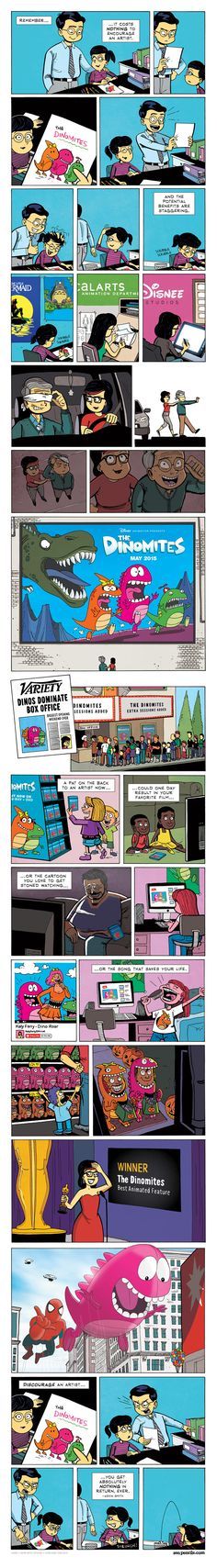 """Encourage an Artist"" Comic by Zen Pencils, Inspired by Kevin Smith Quote — GeekTyrant"