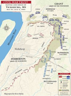The Battle of Vicksburg- Mississippi May 18 to July 1863 This was the peak… Confederate States Of America, America Civil War, Us History, American History, Vicksburg Mississippi, Civil War Photos, Historical Maps, Military History, Civilization