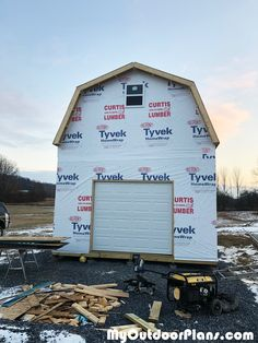 Thank you for the gambrel shed plans! Shed Plans 12x16, Wood Shed Plans, Free Shed Plans, Barn House Plans, Building A Storage Shed, Building A Garage, Shed Building Plans, Garden Tool Shed, Garden Storage Shed