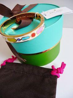 "Kate Spade NWT ""Mix & Mingle Idiom Bangle"" Colorful Enamel Bracelet Retail  $78. #KateSpade #Bangle"