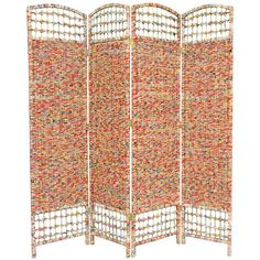 5 1/2 Ft. Tall Recycled Magazine Room Divider, Width 15.75 Inches Oriental Furniture Scr