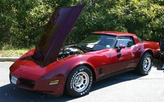 1981 Corvette with hood up