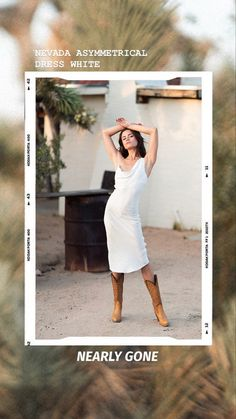 Almost gone! This bestselling style is beautiful in its simplicity- cut on the bias, midi dress length and features asymmetric cowl neck. #mididresses #cowlneck #winonaaustralia Asymmetrical Dress, Cowl Neck, Nevada, Oasis, Strapless Dress, White Dress, Neckline, Model