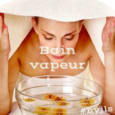 Recette de bain de vapeur purifiant  Ingrédients :  - 1 litre d'eau - 1 branche de thym - 1 poignée de fleurs de lavande - 1 poignée de fleurs de verveine  Mode d'emploi :  Dans une casserole, faites bouillir l'eau et les trois plantes. Au bout de cinq minutes, retirez du feu, puis attendez quelques instants. Fermez les yeux et placez votre visage au-dessus du récipient pendant 5 min, la tête recouverte d'une serviette éponge. # byjls #homemade # bain #vapeur