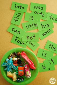 This is sight word play! No reason that learning to read has to be hard or boring. Grab your child's favorite toys and have some fun with sight words.