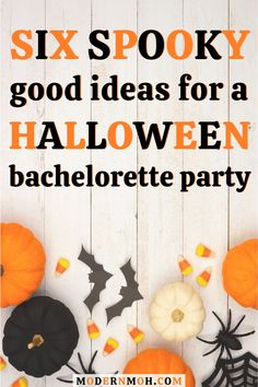 Celebrating your bestie\'s last boo before I do? Check out our 6 spooky good ideas for a halloween-themed bachelorette party! #halloweenbacheloretteparty #halloweenbachelorettepartyideas #ModernMaidofHonor #ModernMOH Halloween Movie Night, Halloween Parade, Halloween 2020, Halloween Kids, Halloween Crafts, Halloween Camping, Halloween Snacks, Halloween Stuff, Happy Halloween