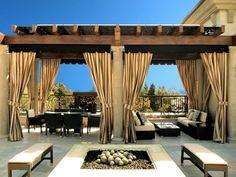 Modèle déco rideau terrasse