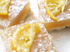 Vegan Gluten-Free Lemon Bars with Candied Meyer Lemons
