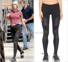Arriving at the gym | New York City, NY | August 24, 2016 Alo 'Moto Leggings in Black' - $110.00 Workout game continues to be on point. I'd personally wear these killer moto leggings in a heartbeat. Worn with: Woody's Barcelona sunglasses, Forever 21...