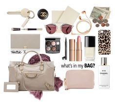 """What In My Bag....All This And MORE!!!! ;((TS Dec 8. Thx PV xxx)"" by hattie4palmerstone ❤ liked on Polyvore featuring Smythson, Zadig & Voltaire, Yves Saint Laurent, Chanel, Charlotte Tilbury, Balenciaga, Kate Spade, Happy Plugs, Christian Dior and victoriabeckham"