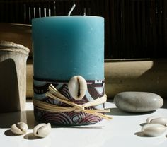 Mediterraneo candle: it& the story of a candle that dresses . Wedding Wows, Diy Wedding, African Wedding Theme, Traditional Wedding Decor, Candle Art, Wedding Decorations, Table Decorations, African Fabric, Celebrity Weddings