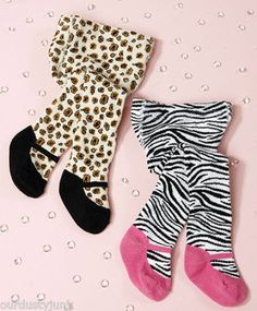 Adorable Animal Print Baby Tights - comes w 2 when you order!