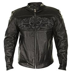 Special Offers - Xelement BXU6050 Mens Armored Leather Motorcycle Jacket with Skull Embroidery  Medium - In stock & Free Shipping. You can save more money! Check It (August 29 2016 at 12:51AM) >> http://motorcyclejacketusa.net/xelement-bxu6050-mens-armored-leather-motorcycle-jacket-with-skull-embroidery-medium/