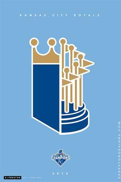 "sprestondesigns: "" Minimalist World Series Champions 2015 by S. Preston Limited edition prints available here. Kansas City Skyline, Kansas City Royals, Sporting Kansas City, Royal Art, Sports Art, World Series, Limited Edition Prints, Preston, Graphic Illustration"