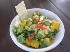 Mango Salsa, fresh chopped ingredients, a satisfying appetizer or great on top of enchiladas, with taquitos etc.
