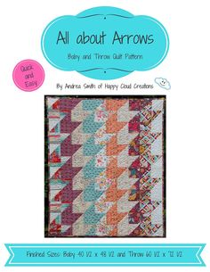 Baby and Throw quilt pattern quick and easy Check out this item in my Etsy shop https://www.etsy.com/listing/481197901/all-about-arrows-quilt-pattern-baby