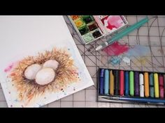 how to paint eggs nest watercolor FULL TUTORIAL  (I just did this one as my first painting!  It's a very good tutorial to start with as a beginner.)