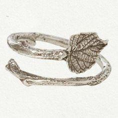 #shopterrain.com          #ring                     #Grape #Leaf #Ring        Grape Leaf Ring                                     http://www.seapai.com/product.aspx?PID=1010274