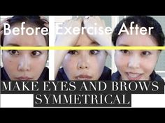How to Make Your Eyes Symmetrical Part 2 | Mini Chiropractic for Eyes and Eye Brows - YouTube
