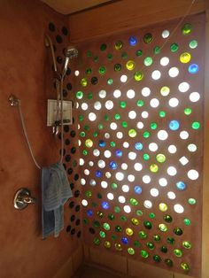 Awesome shower <3 Earthship home