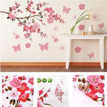 sticker supplies Picture - More Detailed Picture about bathroom Flower Butterfly Wall Stickers decal Removable Peach Wall Sticker wallpaper quote poster decor para bedroom decoration Picture in Wall Stickers from Shenzhen SuperDeal Technology Co. Wall Stickers Wallpaper, Removable Wall Stickers, Wall Stickers Home, Wall Stickers Murals, Wall Decal Sticker, Vinyl Wall Decals, Mural Wall, Vinyl Art, Sticker Paper