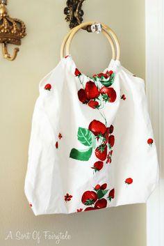 A Sort Of Fairytale// pretty dishtowel bag