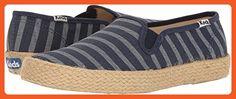 Keds Women's Champion Slip Breton Stripe Jute Fashion Sneaker, Navy, 6.5 M US - Sneakers for women (*Amazon Partner-Link)
