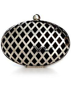 Jessica McClintock Handbag, Silver Minaudiere Evening Clutch - Clutches & Evening Bags - Handbags & Accessories - Macy's