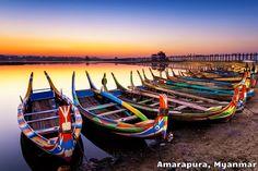 Sunrise in Amarapura, Myanmar Amarapura, Rice Lake, Getting Up Early, Wisconsin, Boat, Outdoor Decor, Travel, Sunrises, Amazing