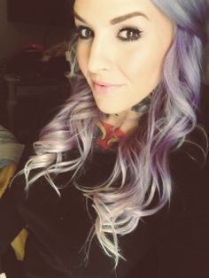 Purple Hair Review  Purple hair perfection.  I think I could pull this off at work!!