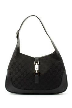 Vintage Gucci Cotton GG Jackie Shoulder Bag