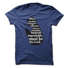 Sherlock Holmes Detective Quote T Shirt