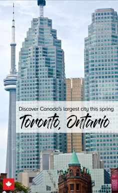The Ultimate Spring Weekend Getaway Guide to Toronto Vacation Places, Vacation Trips, Places To Travel, Places To See, Travel Stuff, Vacations, Ontario Travel, Toronto Travel, Toronto Island