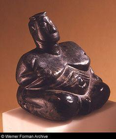 Fertility goddess.  Anatolia, Turkey, 6000 BC. Formerly Schimmel Collection, New York.