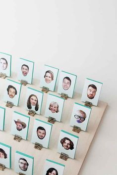 Assemble a personalized version of Guess Who using photos of people you know.