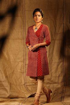 Madder Angrakha Kurta