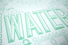 Water. Limited edition poster from designer Rehanah Spence. 100% of profits directly support this year's September Campaign.