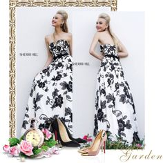Designer Clothes, Shoes & Bags for Women Cute Prom Dresses, Formal Dresses, Sherri Hill, Strapless Dress Formal, Christian Louboutin, Polyvore, Stuff To Buy, Shopping, Beauty