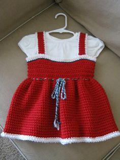 Tunisian Crochet Christmas dress