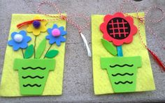 martisoare handmade 8 Martie, Class Decoration, Projects To Try, Xmas, School, Spring, Handmade, Crafts, Hand Made