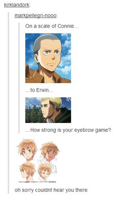 Eyebrow game...Strong.