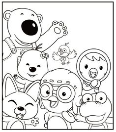 pororo colouring pages