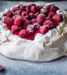 Fresh Raspberry Curd & Vanilla Whipped Cream Pavlova Recipe - RecipeChart.com