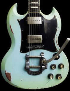 Custom Guitars and Relics by Dax&Co.: Quality custom guitars and relics at affordable prices unmatched in the industry! Sg Guitar, Guitar Inlay, Music Guitar, Cool Guitar, Playing Guitar, Guitar Room, Gibson Epiphone, Gibson Guitars, Gibson Sg